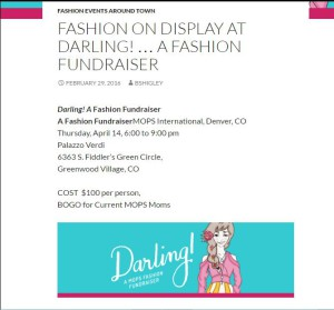 Fashion on Display at Darling... A Fashion Fundraiser
